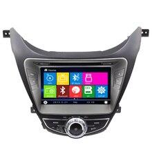 8″ 2 din Car DVD player for Hyundai Elantra 2012 multimedia GPS Navigation Radio Stereo Audio Video Bluetooth SWC RDS Free map