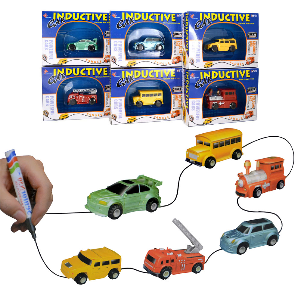 diversion magic inductive car truck tank toys mgaic pen vehicles