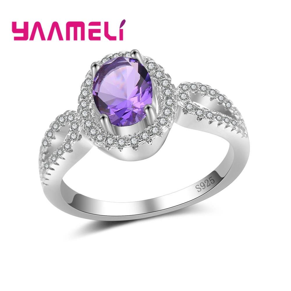 YAAMELI Women Ladies Party/Anniversary Crystal Jewelry Finger Rings More Popular Hot 925 Sterling Silver Cubic Zirconia Present