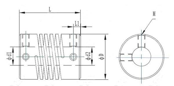 5mm x 8mm Aluminum Flexible Shaft Coupling OD19mm x L25mm CNC Stepper Motor Coupler Connector