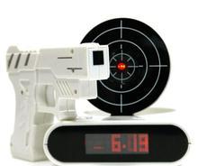 Novelty toy Gun Alarm clock camouflage Army shooting Toys alarm clock Lazy alarm clock Student Mute digtal alarm clock