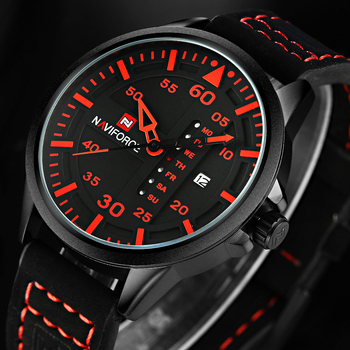 NAVIFORCE Luxury Brand Fashion Sports Men Quartz Watch Date Leather Strap Watches Man Army Military Waterproof Relogio Masculino image