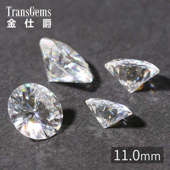 TransGems 1 Piece 11mm 5 Carat Certified F Colorless Moissanite Loose Lab Grown Diamond Bead Test As Real Diamond Gemstone - DISCOUNT ITEM  5% OFF All Category