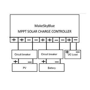 Image 5 - Makeblue controlador de carga solar mppt, controlador de carga solar mppt versão v118, 30a, 40a, 50a, 60a, display lcd para 12v, 24v, 36v regulador de bateria 48v dc