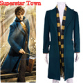 Fantastic Beasts and Where to Find Them Newt Scamande Trench Cosplay Costume Men Party Blazer Winter Coat