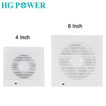 4-6'' Ventilator Extractor Air Vent Wall Window Mounted Range Hood Silent Bathroom Exhaust Fan Cooker for Kitchen Ventilation