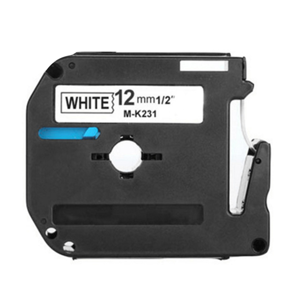 Label Printer Tape Black on White Sticker Tape Marker for Brother P-Touch PT-65 PT-70 PT-80 Label Machine Ribbon 12mm packaging and labeling