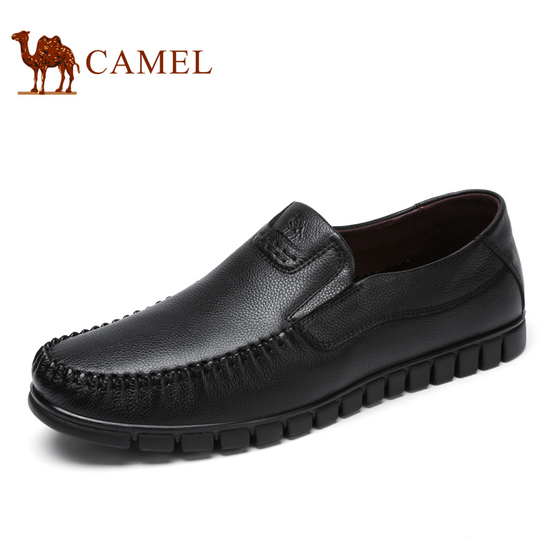 Camel Spring Men 's Leather Genuine Business Casual Shoes Comfortable Sleeve Bottom Driving Shoes Men' s Shoes A712211140 men s shoes fall new casual men s leather comfortable korean version sub3147