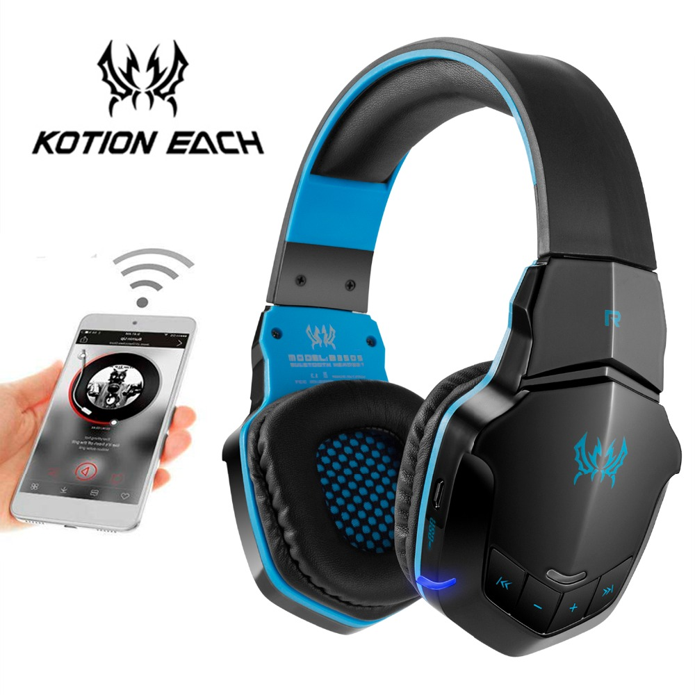 Kotion Each B3505 Wireless Bluetooth Headphones Gaming Headsets Pc Gamer Headphones With Microphone Led Light For Smartphone Bluetooth Earphones Headphones Aliexpress