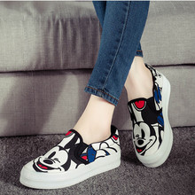 2016 spring Korean cartoon animation canvas shoes flat lazy casual women shoes tide espadrilles loafer mujeres zapatos