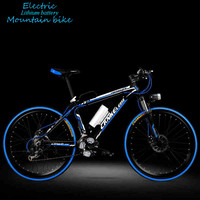 Elektrikli bisiklet 26 inç 36/48 v lityum alüminyum alaşım elektrikli dağ bisikleti yetişkin hibrid dinamik bisiklet