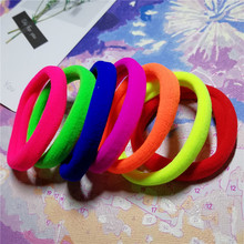 Vigueur 15Pcs/lot 4.3CM Girls High Elastic Hair Bands Solid Ties Ring Headwear Rubber Ponytail Holder Scrunchie Hairbands Orname