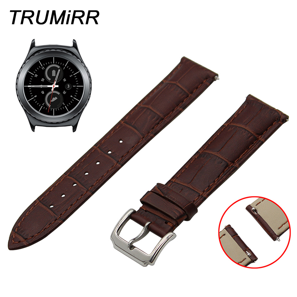 20mm Quick Release Watch Band 1st Layer Genuine Leather for Samsung Gear S2 Classic R732 R735 Moto 360 2 42mm Men Strap Bracelet20mm Quick Release Watch Band 1st Layer Genuine Leather for Samsung Gear S2 Classic R732 R735 Moto 360 2 42mm Men Strap Bracelet