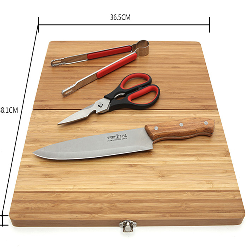 Portable Outdoor Tableware Set Cutting Tool Cutting Board Kitchen Utensils Outdoor Tableware In The Wild alocs ac p03 outdoor foldable cutting chopping board white