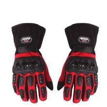 Новый Зимой На Открытом Воздухе 100% Ветрозащитный Теплый Защита Перчатки Мотоцикла Водонепроницаемый luva guantes мотокросса moto racing перчатки M ~ XXL