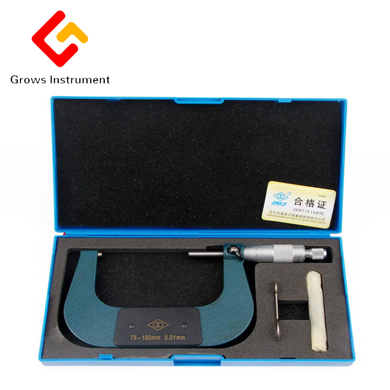 50-75mm Impregnated alloy Outside Micrometer Caliper Gauge Meter Micrometer Carbide Tip Measure Tools Various specifications