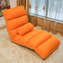 Floor Foldable Chaise Lounge Chair Upholstery with Mesh Fabric 5 Colors Living Room Furniture Reclining Leisure