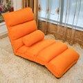 Piso Dobrável Chaise Lounge Chair com Estofos Em Tecido de Malha 5 Cores Sala de estar Mobiliário Cadeira Reclinável Lazer Daybed Espreguiçadeira