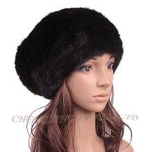 Cx-c-213g новый 2015 трикотажные норки зимняя шапка шапочка теплый Skullies свободного покроя Cap