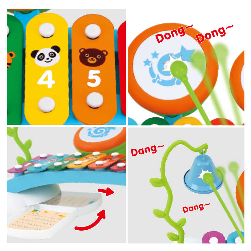HOLA 909 детские игрушки Красочные радужные ручной стук пианино 8-Note раннее развитие обучения Музыкальные игрушки для детей подарок для девочки