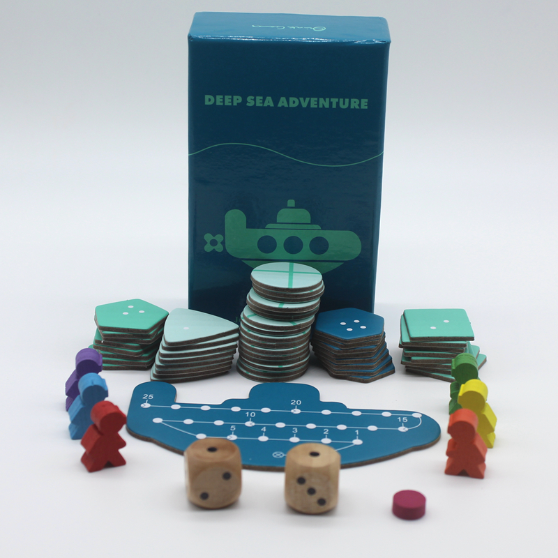 Deep Sea Adventure Настольная игра с английского инструкции забавные карты 2-6 игроков Семья/партия игры для детей best подарок