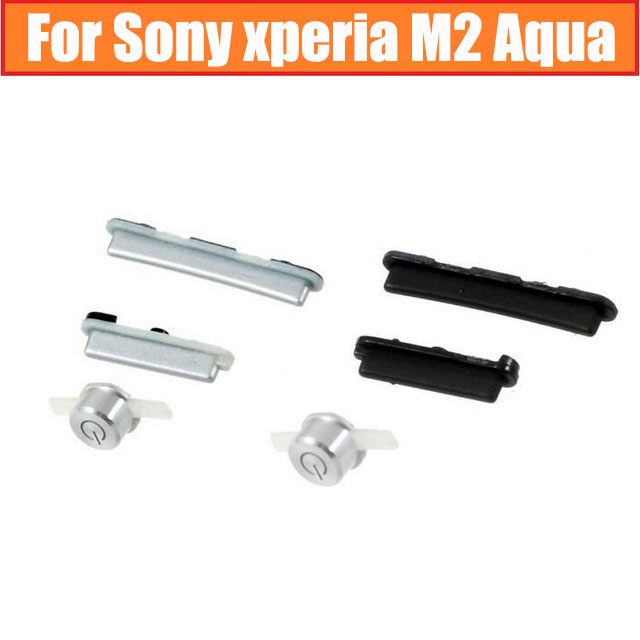 Genuine Camera Shutter + Volume + Power Buttons For Sony Xperia M2 Aqua S50H S50T D2303 D2305 D2306 Side Keypad Cell Phone Parts