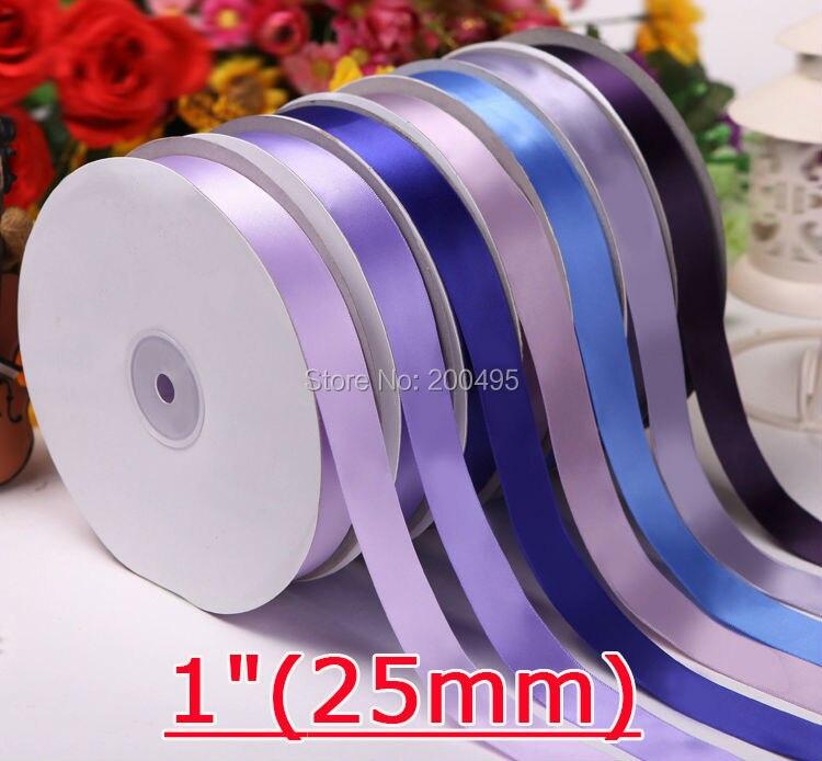 """[IuBuFiGo] """" двусторонняя атласная лента 25 мм упаковка рубановая атласная лента 100 ярдов/рулон"""