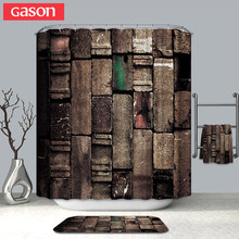 GASON Bathroom Curtain Quality Natural Waterproof Polyester 2 M Cloth 3D Farm Decorative Wall Totem Simple