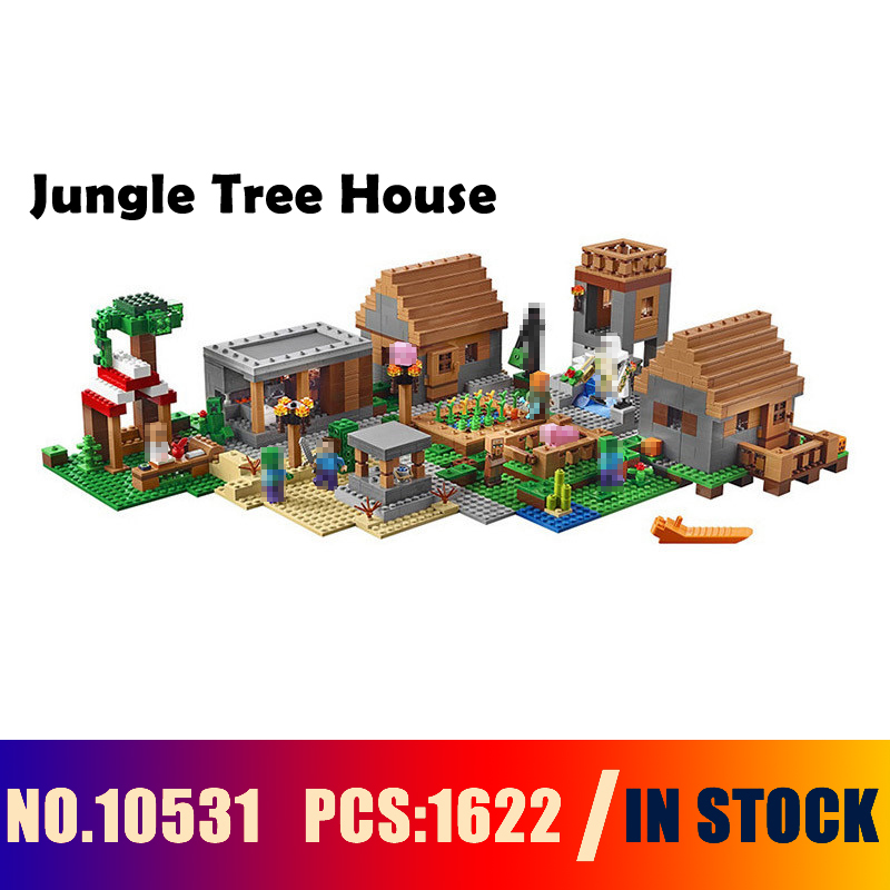 Compatible with lego 21128 Models building toy 10531 1622PCS My World Series Jungle Tree House Building Blocks toys & hobbies building block set compatible with lego bang bao fairy series kung fu fight inserted blocks toy mysterious dragon hegemony 6606