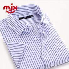 Los Hombres a rayas Camisas de Vestir de Manga corta Más El Tamaño Camisas camisa masculina camisas hombre Camisas Formales de Negocios Masculino Ocasional