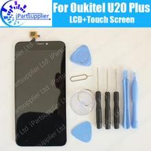 Oukitel U20 Plus LCD Display + Touchscreen 100{6b1d8e5c8174d39804674a2bffc45d31ecc656e09868d3aecb71eff0735dd768} Original LCD Digitizer Glasscheibe Ersatz Für Oukitel U20 Plus + werkzeug + adhesive