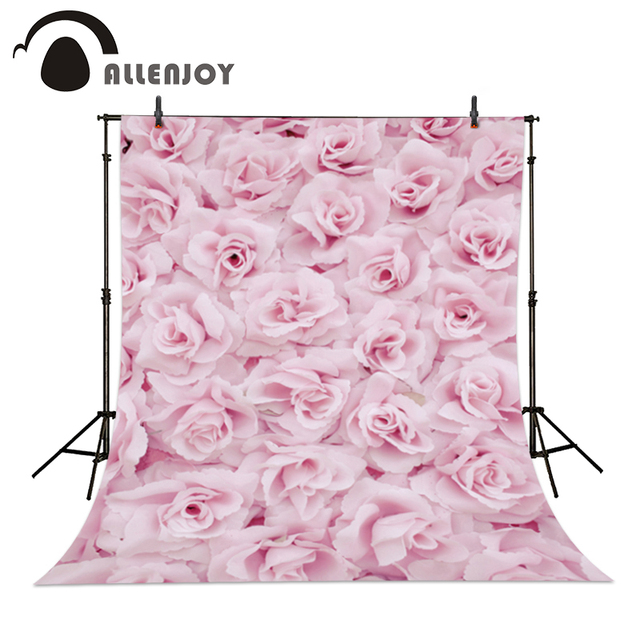 Allenjoy Photographic Camera Pink Flower Backgrounds Wedding Love Baby  Shower Background For Photo Shoots Photo Backdrop