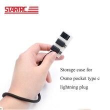Clip POCKET Wrist-Strap Dji Osmo Storage-Case Lightning Plastic Type-C Startrc for Connector-Plug