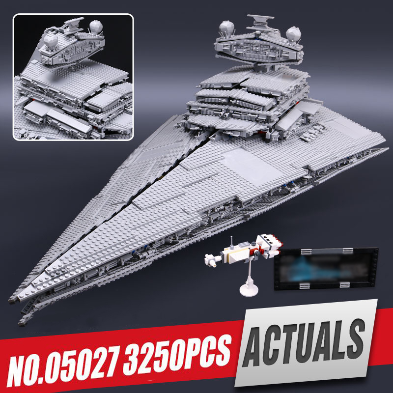 LEPIN 05027 Star 3250Pcs Wars Emperor fighters starship Model Educational Building Kit Blocks Bricks Toy Compatible with 10030 new lepin 05027 3250pcs star wars imperial star destroyer model building kit blocks bricks educational compatible legoed 10030
