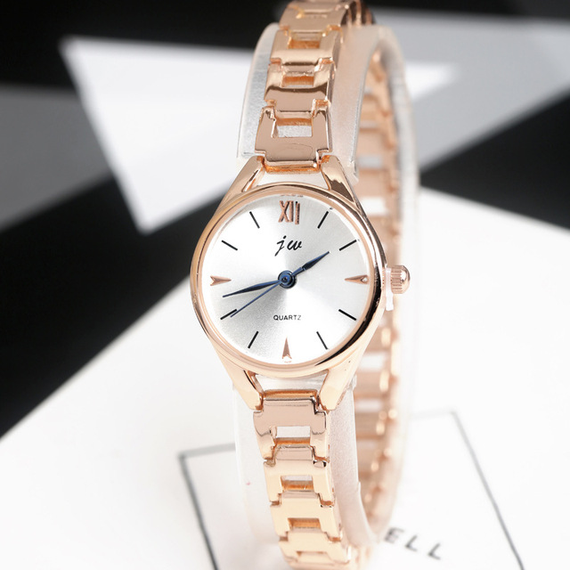 JW 2017 New Fashion Bracelet Watches Women Luxury Rose Gold Stainless Steel Quar