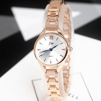 JW 2019 New Fashion Bracelet Watches Women Luxury Rose Gold Stainless Steel Quartz Watch Clock Female Casual Dress Wristwatches rose gold women watches casual quartz ladies bracelet wristwatches new creative women fashion luxury watch dress quartz clock