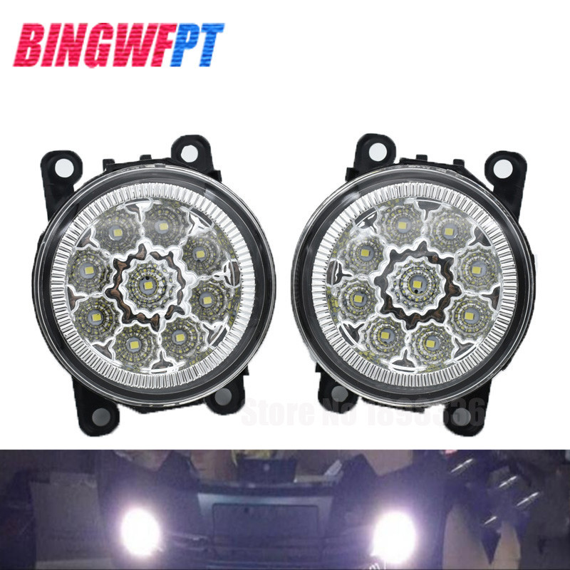 2pcs/set Left +Right LED Fog Light Lamp Assembly with 9-Pieces Leds Chips For Mitsubishi Outlander Sport 2013 2014 2015 new 2pcs female right left vivid foot mannequin jewerly display model art sketch