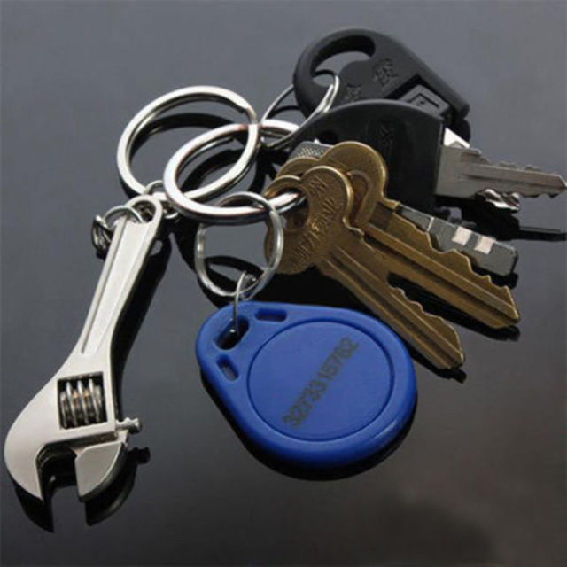 Adjustable Wrench Car Keychain