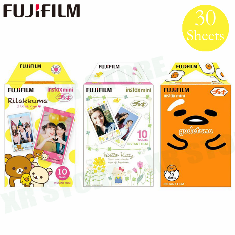 Fujifilm Rilakkuma + bonjour kitty + Gudetama Fuji Photo Instantanée Papier Pour Instax Mini 8 9 Film 70 7 s 50 s 50i 90 25 Part SP-2 Caméra