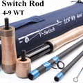 Maximumcatch 4WT-9WT Switch Fly Rod 11 FT Fly caña de pescar con colillas de lucha conmutables con tubo de Cordura