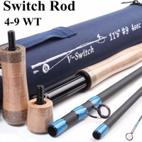 Maximumcatch 4WT 9WT Switch Fly Fishing Rod 10.5FT 11.5FT Fly Rod With Switchable Fighting Butts with Cordura Tube