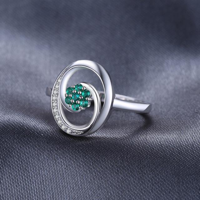 Strieborný prsteň ZELENÝ KVET Silver Ring GREEN FLOWER