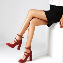 New 2019 Spring Ladies Pumps Women Shoes Sqaure Red Shoes zapatos de mujer Sandals High Heels shoes