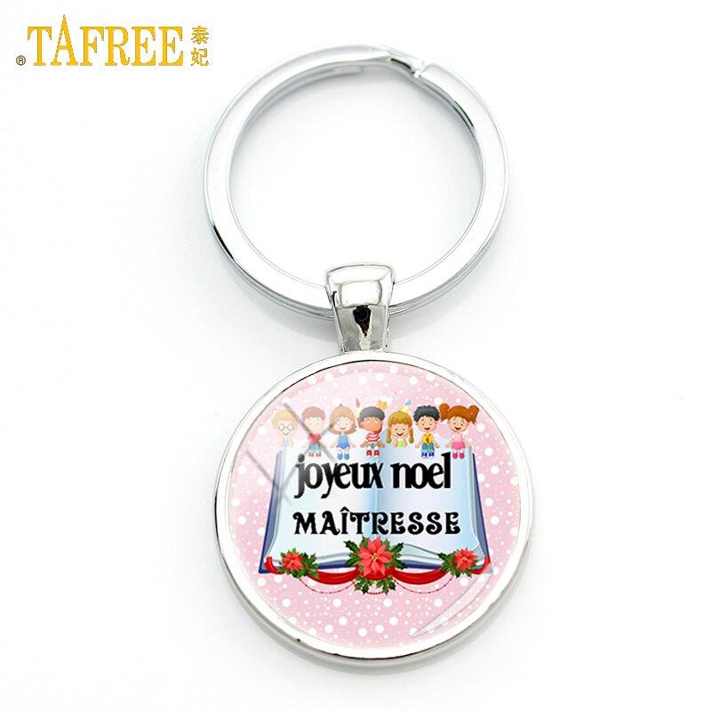 Tafree новые модные Merci maitresse подарки брелок супер institutrice joyeux Ноэль цепочка для ключей кольцо держатель учителей Jewelry H142