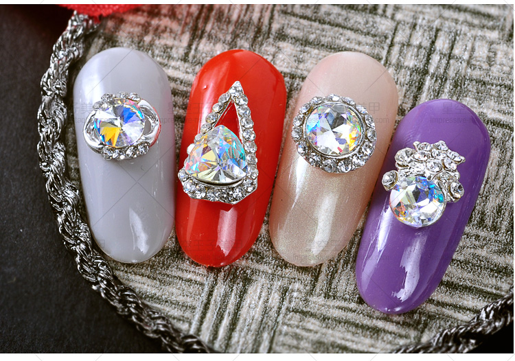 Купить с кэшбэком 10pcs Crystal strass nagel decorative nail art rhinestones alloy 3d glitter nail jewelry manicure accessories 3074-3093(20style)