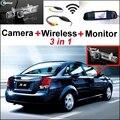 Para BUICK Para Excelle HRV 2002 ~ 2008 Especial WiFi Camera + Wireless receptor + Espelho Tela 3 em 1 Backup do Sistema de Estacionamento