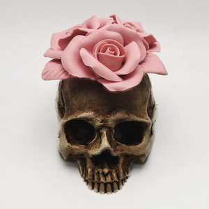 Image 2 - 3D Rose skull silicone mold diy candle plaster silicone mold Halloween decoration tools