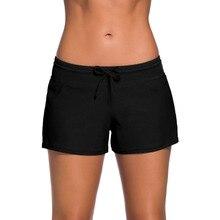 2019 Sexy Womens Swimming Trunks Beach Surfing Short Quick Dry Boardshort Swimwear Briefs Swim Pants Soild Sport