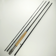 5/6# 9 feet flying fishing rod 2.7m carbon 4 sections 132g black fish pole soft power