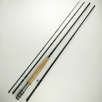 5/6# 9 feet flying fishing rod 2.7m carbon flying rod 4 sections 132g black fish pole soft power